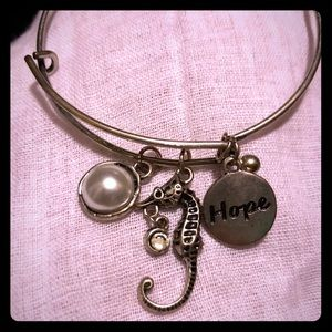 Jewelry - 5 for $20, Seahorse/Pearl/Hope Charm Bracelet